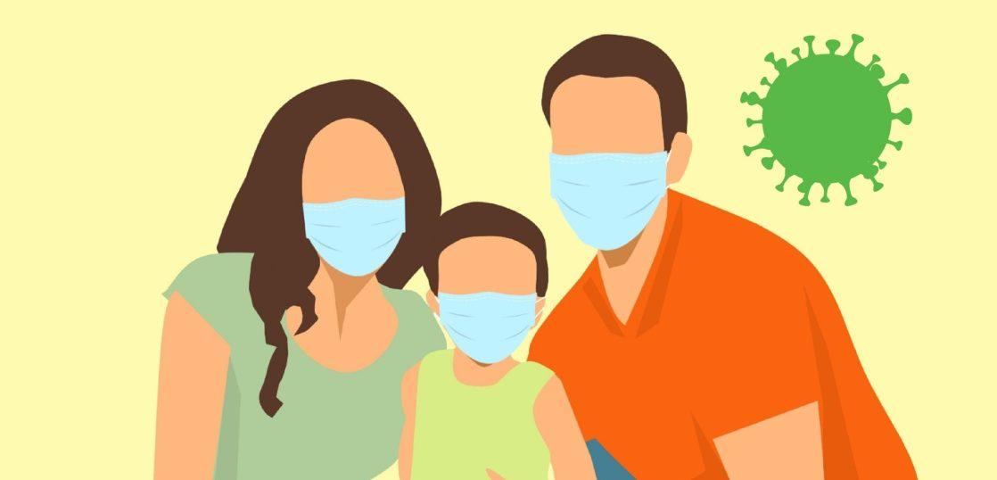 家族でマスク